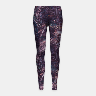 Thumbnail image of Amid the tropical jungle at night Girl's leggings, Live Heroes