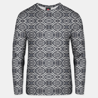 Thumbnail image of Silver Ornate Decorative Seamless Mosaic Unisex sweater, Live Heroes