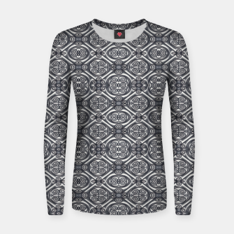 Thumbnail image of Silver Ornate Decorative Seamless Mosaic Women sweater, Live Heroes