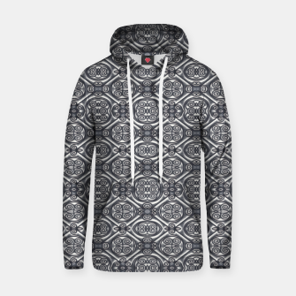 Thumbnail image of Silver Ornate Decorative Seamless Mosaic Hoodie, Live Heroes