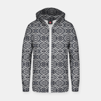 Thumbnail image of Silver Ornate Decorative Seamless Mosaic Zip up hoodie, Live Heroes