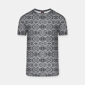 Thumbnail image of Silver Ornate Decorative Seamless Mosaic T-shirt, Live Heroes