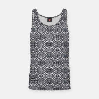 Thumbnail image of Silver Ornate Decorative Seamless Mosaic Tank Top, Live Heroes