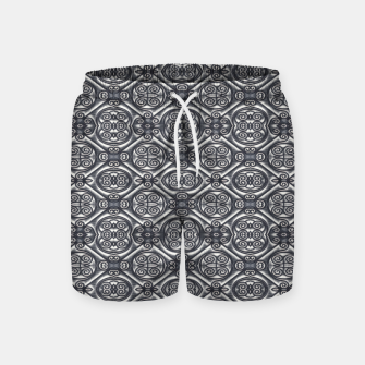 Thumbnail image of Silver Ornate Decorative Seamless Mosaic Swim Shorts, Live Heroes