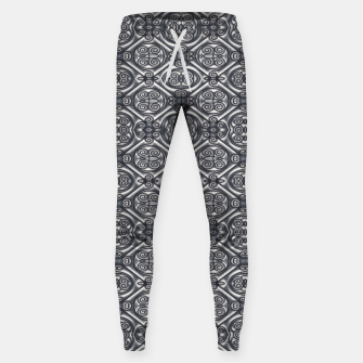 Thumbnail image of Silver Ornate Decorative Seamless Mosaic Sweatpants, Live Heroes
