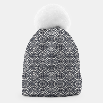 Thumbnail image of Silver Ornate Decorative Seamless Mosaic Beanie, Live Heroes