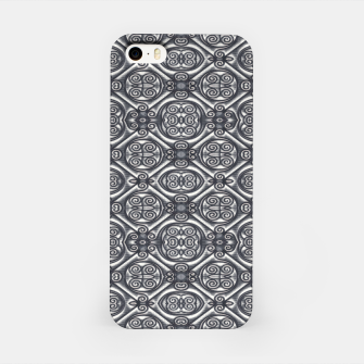 Thumbnail image of Silver Ornate Decorative Seamless Mosaic iPhone Case, Live Heroes