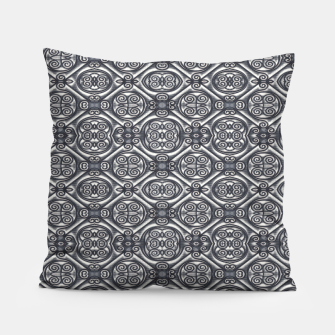 Thumbnail image of Silver Ornate Decorative Seamless Mosaic Pillow, Live Heroes