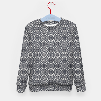 Thumbnail image of Silver Ornate Decorative Seamless Mosaic Kid's sweater, Live Heroes