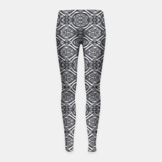 Thumbnail image of Silver Ornate Decorative Seamless Mosaic Girl's leggings, Live Heroes