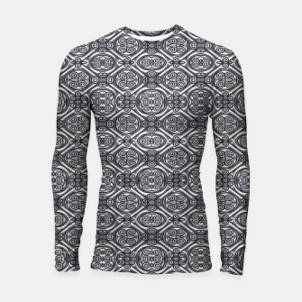 Thumbnail image of Silver Ornate Decorative Seamless Mosaic Longsleeve rashguard , Live Heroes