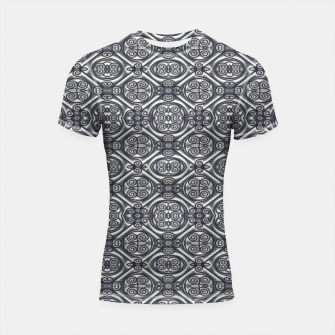 Thumbnail image of Silver Ornate Decorative Seamless Mosaic Shortsleeve rashguard, Live Heroes