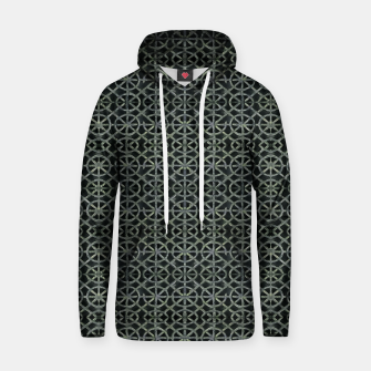 Thumbnail image of Dark Ornament Grid Pattern Hoodie, Live Heroes