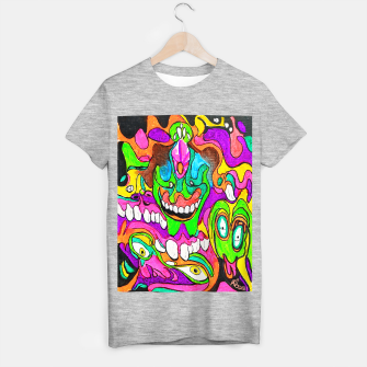 Thumbnail image of Psychedelic Lowbrow Surrealism T-shirt regular, Live Heroes