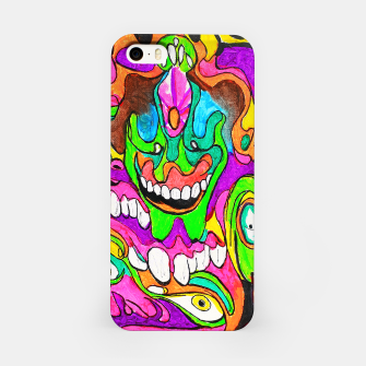 Thumbnail image of Psychedelic Lowbrow Surrealism iPhone Case, Live Heroes
