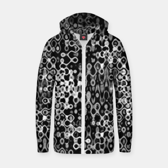 Thumbnail image of Black and White Modern Abstract Design Zip up hoodie, Live Heroes