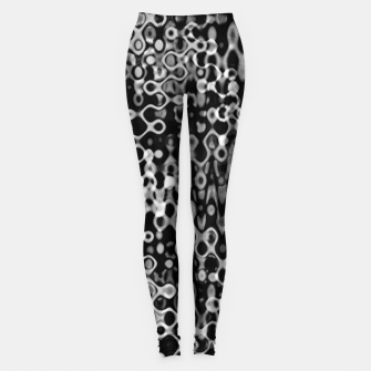 Thumbnail image of Black and White Modern Abstract Design Leggings, Live Heroes