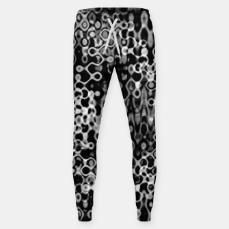 Thumbnail image of Black and White Modern Abstract Design Sweatpants, Live Heroes