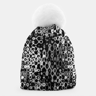 Thumbnail image of Black and White Modern Abstract Design Beanie, Live Heroes