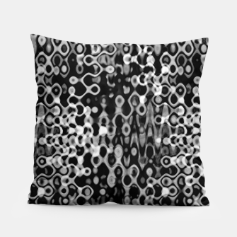 Thumbnail image of Black and White Modern Abstract Design Pillow, Live Heroes