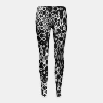 Thumbnail image of Black and White Modern Abstract Design Girl's leggings, Live Heroes