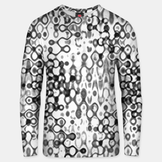 Thumbnail image of White and Black Modern Abstract Design Unisex sweater, Live Heroes