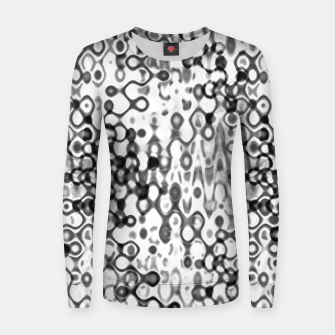 Thumbnail image of White and Black Modern Abstract Design Women sweater, Live Heroes