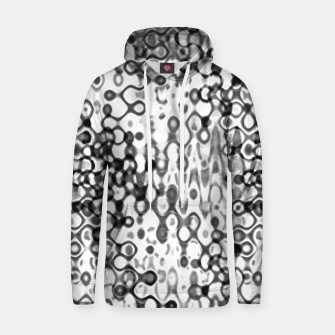 Thumbnail image of White and Black Modern Abstract Design Hoodie, Live Heroes