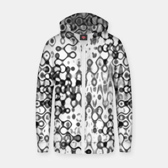 Thumbnail image of White and Black Modern Abstract Design Zip up hoodie, Live Heroes