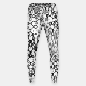 Thumbnail image of White and Black Modern Abstract Design Sweatpants, Live Heroes