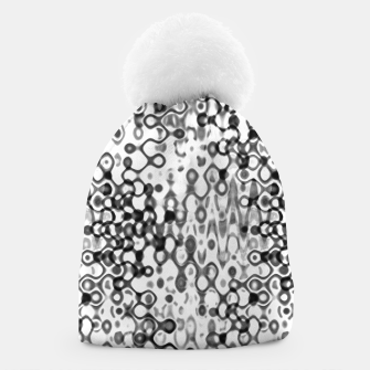 Thumbnail image of White and Black Modern Abstract Design Beanie, Live Heroes