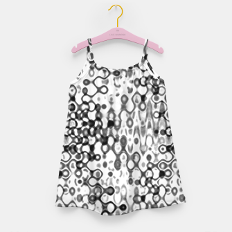 Thumbnail image of White and Black Modern Abstract Design Girl's dress, Live Heroes