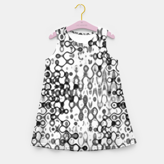 Thumbnail image of White and Black Modern Abstract Design Girl's summer dress, Live Heroes