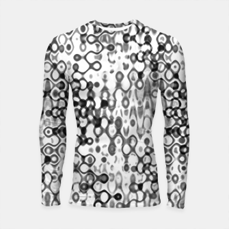 Thumbnail image of White and Black Modern Abstract Design Longsleeve rashguard , Live Heroes