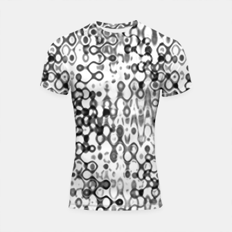 Thumbnail image of White and Black Modern Abstract Design Shortsleeve rashguard, Live Heroes
