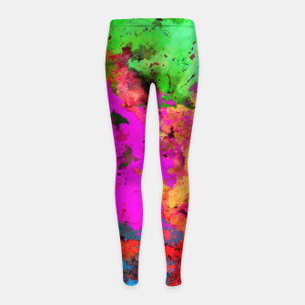 Thumbnail image of Bam! Girl's leggings, Live Heroes