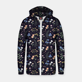 Thumbnail image of Floral Zip up hoodie, Live Heroes