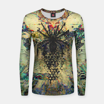 Thumbnail image of Spider Glitch Women sweater, Live Heroes