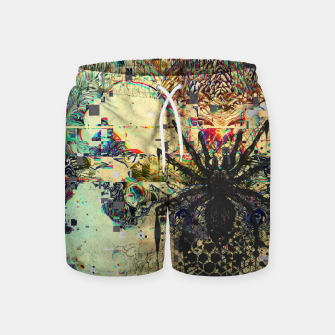 Thumbnail image of Spider Glitch Swim Shorts, Live Heroes
