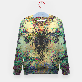 Thumbnail image of Spider Glitch Kid's sweater, Live Heroes