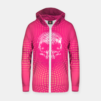 Thumbnail image of Pink Skull Glitch Zip up hoodie, Live Heroes