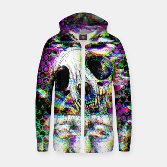 Thumbnail image of Tv Glitch Zip up hoodie, Live Heroes
