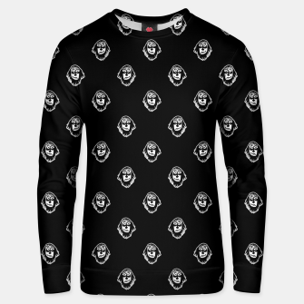 Thumbnail image of Funny Ghost Sketchy Drawing Motif Pattern Unisex sweater, Live Heroes
