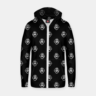 Thumbnail image of Funny Ghost Sketchy Drawing Motif Pattern Zip up hoodie, Live Heroes