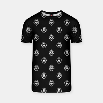 Thumbnail image of Funny Ghost Sketchy Drawing Motif Pattern T-shirt, Live Heroes