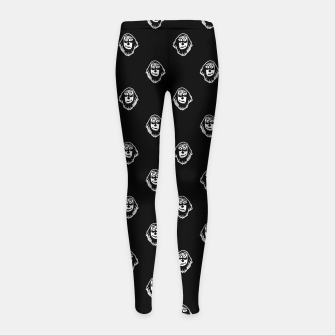Thumbnail image of Funny Ghost Sketchy Drawing Motif Pattern Girl's leggings, Live Heroes