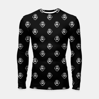 Thumbnail image of Funny Ghost Sketchy Drawing Motif Pattern Longsleeve rashguard , Live Heroes