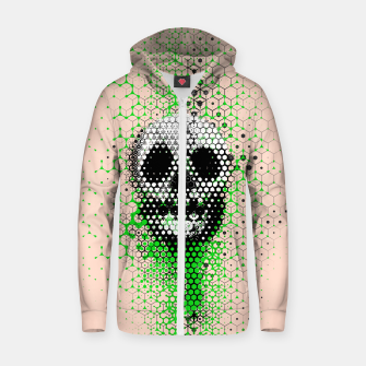 Thumbnail image of Ghost Grid Zip up hoodie, Live Heroes