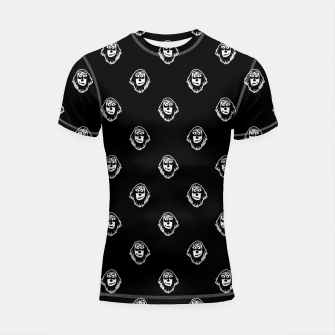 Thumbnail image of Funny Ghost Sketchy Drawing Motif Pattern Shortsleeve rashguard, Live Heroes