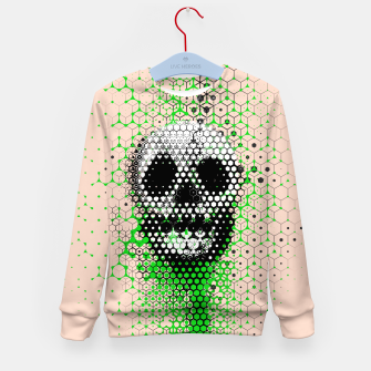 Thumbnail image of Ghost Grid Kid's sweater, Live Heroes